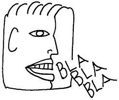 Guy speaking blah