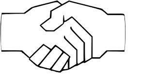 Handshake b-w